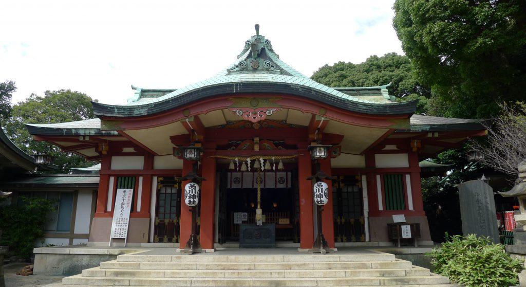 画像 品川神社の拝殿